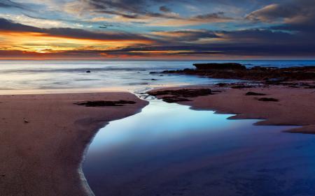 Заставки закат, море, небо, пейзаж