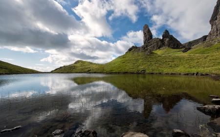 Фото озеро, горы, небо, пейзаж