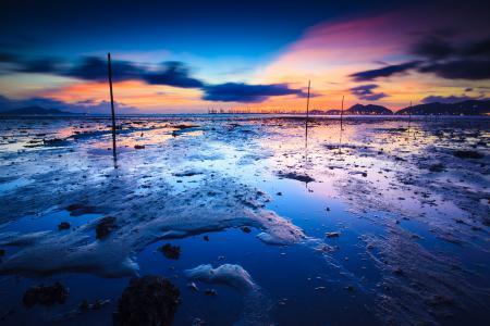Фото порт, море, небо, берег