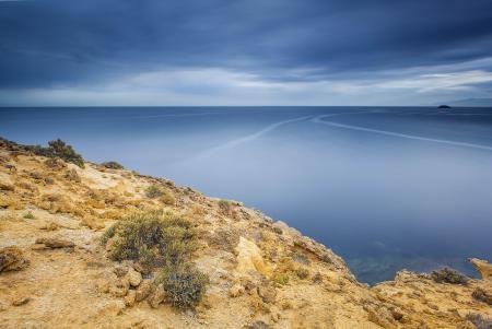 Заставки море, берег, штиль, водная гладь