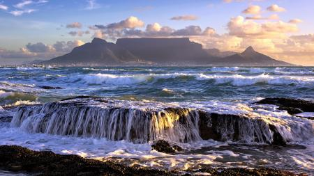 Заставки море, горы, волны, пейзаж