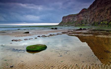 Фото закат, море, берег, природа