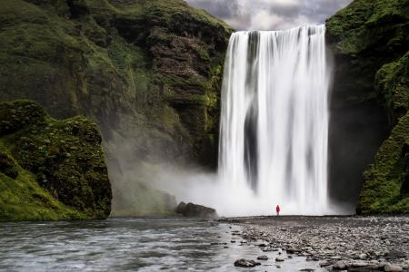 Картинки река, водопад, лес, природа