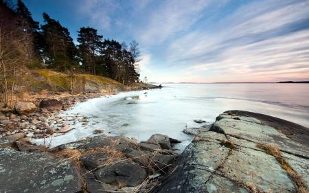 Фото озеро, лёд, природа, пейзаж