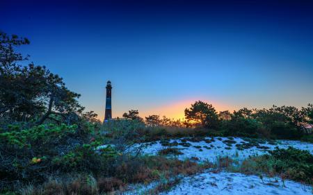 Фото маяк, закат, пейзаж