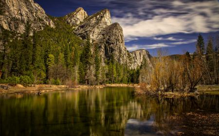 Фото озеро, горы, лето, пейзаж