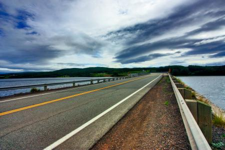 Фото асфальт, дорога, вода, серое