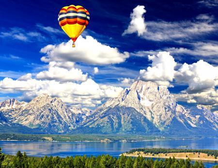 Обои Air-Balloon, Grand Teton National Park, USA, красочный