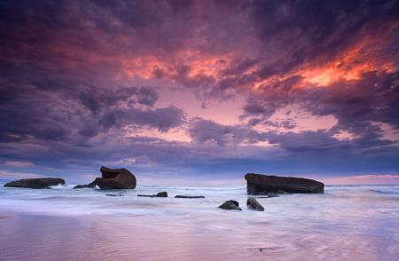Заставки море, небо, закат, облака