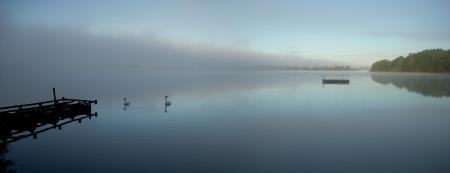 Фотографии Природа, Озеро, Вода, Туман