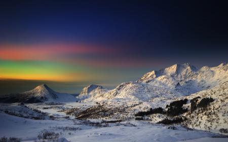 Фотографии небо, утро, зима, горы