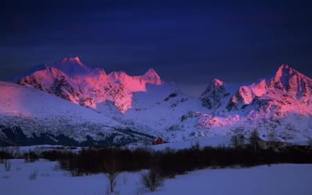 Заставки утро, горы, зима