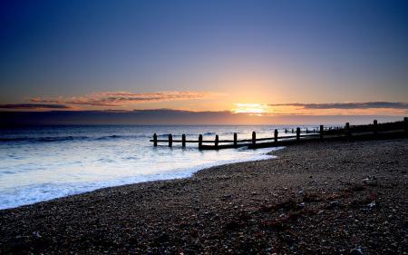 Фото вечерние пейзажи, море, океан, вода