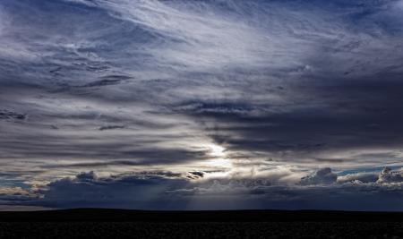 Обои Патагония, небо, облака, лучи