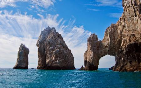 Обои Los cabos arch, Мексика, море, скалы