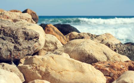 Фотографии море, океан, камни, макро