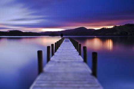 Фото романтика, мосты, небо, вечер