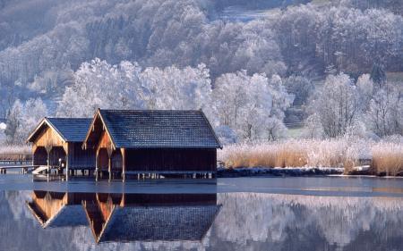 Обои Германия, домик, берег, озеро