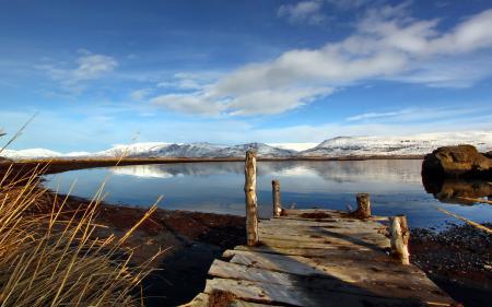 Картинки озеро, мост, пейзаж