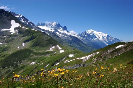 Фото горы, альпы, весна, склоны