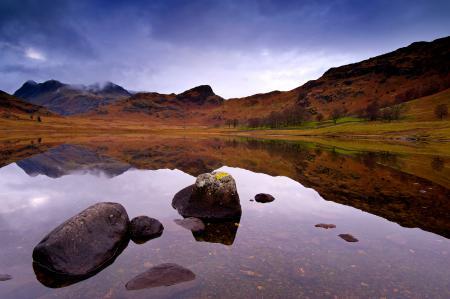 Фото горы, холмы, озеро, камни