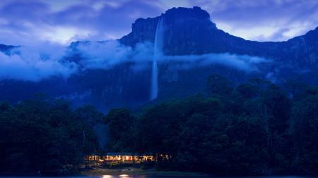 Заставки Водопад Анхель, Национальный парк Канаима, Венесуэла, лес
