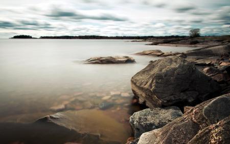 Картинки озеро, камни, природа, пейзаж