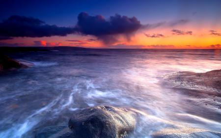 Фото море, закат, пейзаж
