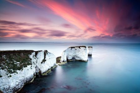 Фотографии скалы, белые, небо, розовое