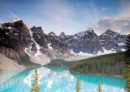 Заставки горы, озера, лес, облака