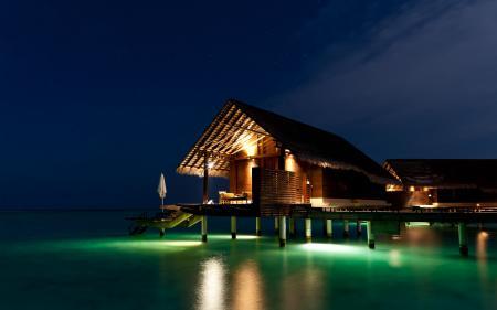 Фотографии ночь, дом, море