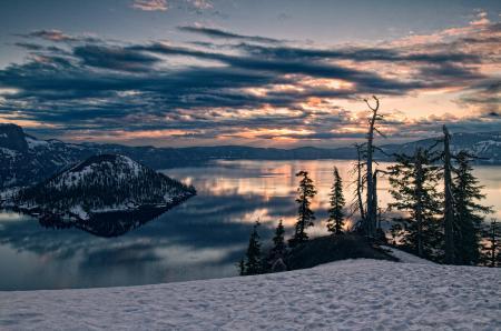 Фото горы, вулкан, озеро, небо