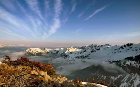 Картинки горы, заснеженные, вершины, снег