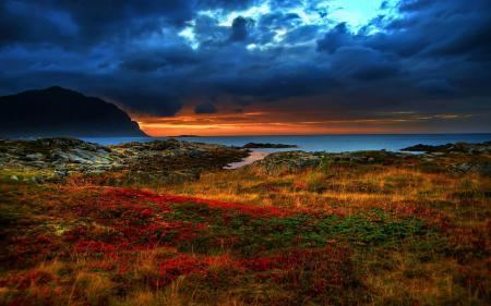 Фото море, скалы, небо