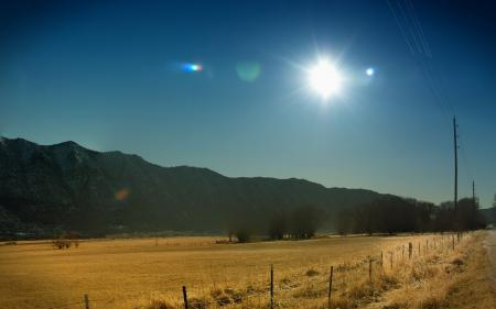 Картинки поле, дорога, небо, столбы