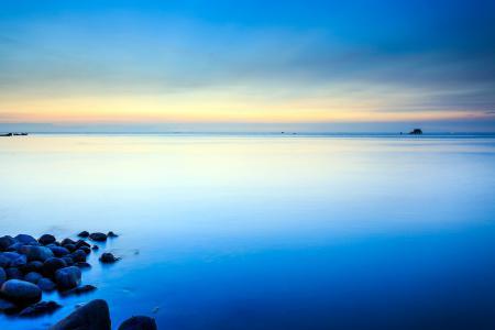Обои закат, море, пейзаж
