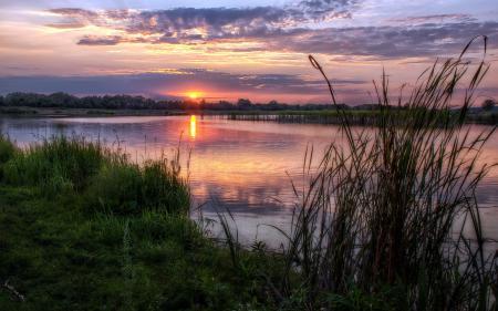 Заставки река, закат, природа, пейзаж