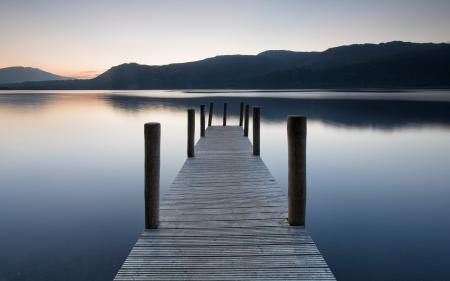 Заставки озеро, мост, пейзаж