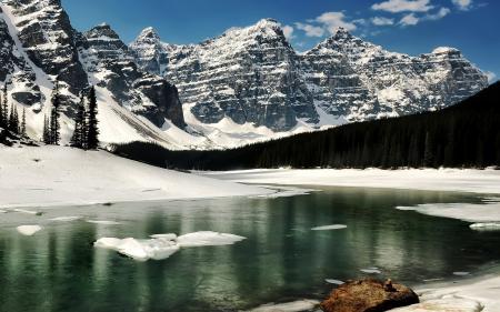 Заставки озеро, горы, пейзаж