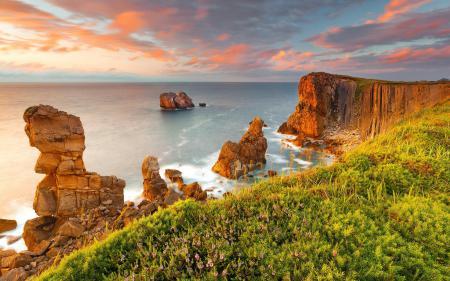 Картинки море, скалы, лето, пейзаж