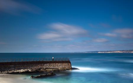 Фото море, небо, пирс, пейзаж