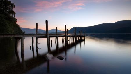 Фотографии озеро, мост, ночь, пейзаж