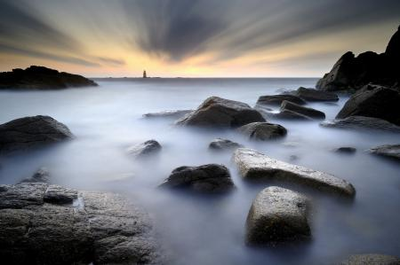 Фотографии море, камни, маяк, пейзаж