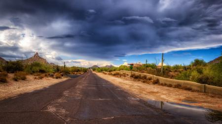 Фотографии дорога, небо, пейзаж