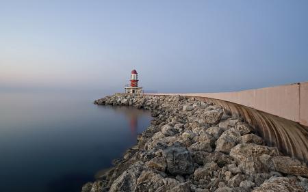Фото море, небо, маяк, пейзаж