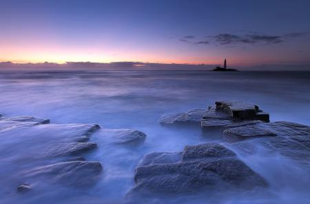 Фотографии ночь, море, маяк, пейзаж