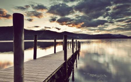 Фотографии озеро, мост, пейзаж