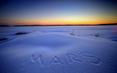 Обои зима, ночь, снег, пейзаж