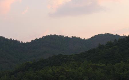 Фото горы, закат, лето, высота