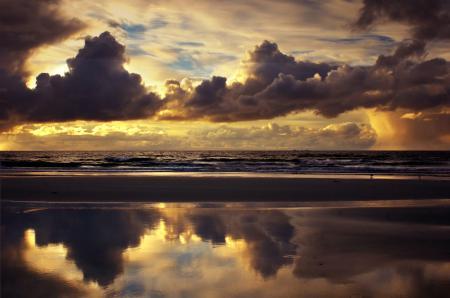 Заставки небо, облака, море, пляж